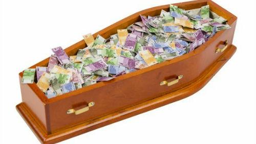 видеть полный гроб денег
