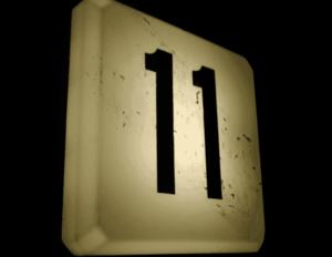 Отрицательное значение числа 11